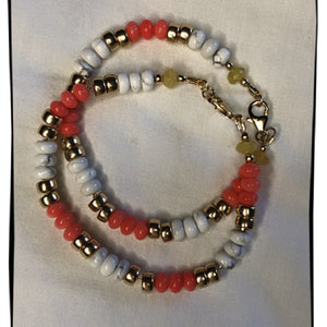 Bracelet Octobre Rose - Pierres et Or
