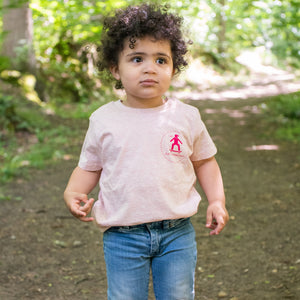 t-shirt enfant skateboard rose coton bio