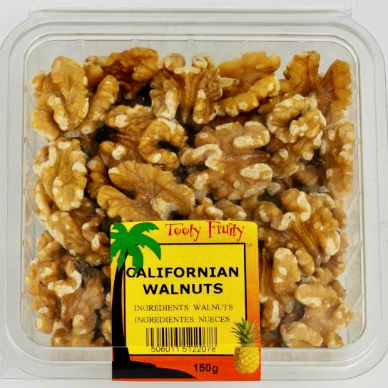clear packet of shelled walnuts