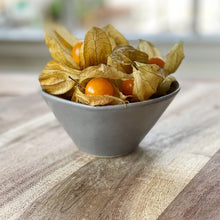 Load image into Gallery viewer, physalis in a grey bowl on a wooden board