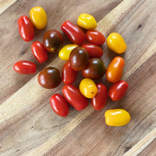Load image into Gallery viewer, collection of Heirloom cherry tomatoes on a wooden board