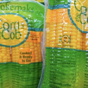 corn on the cob sealed in plastic