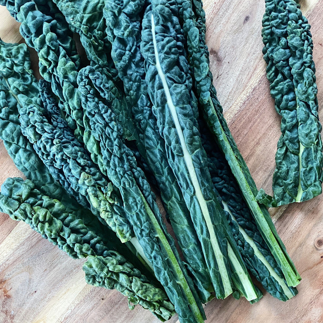 cavolo nero on a wooden board