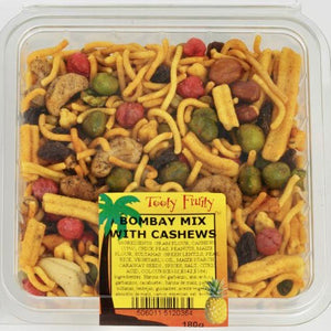 clear packet of bombay mix with cashews