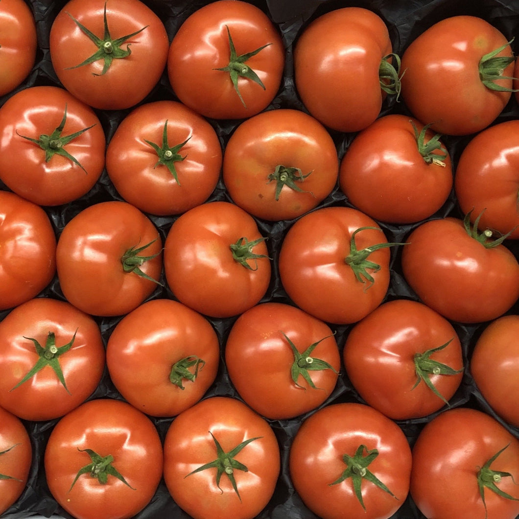 box of large beefsteak tomatoes