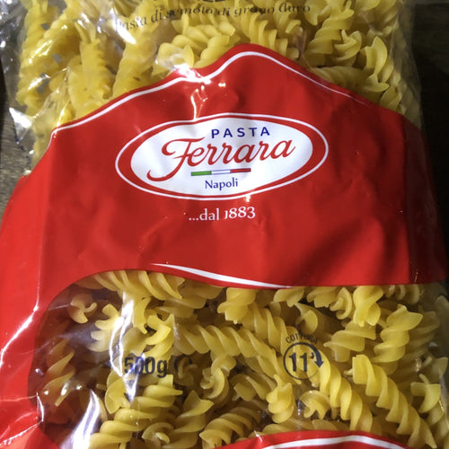bag of twisted fusilli pasta