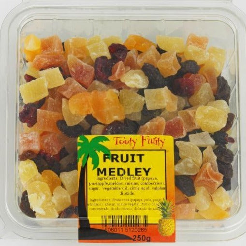 dried fruit medley in a plastic packet