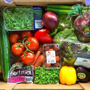 mixed box of salad ingredients