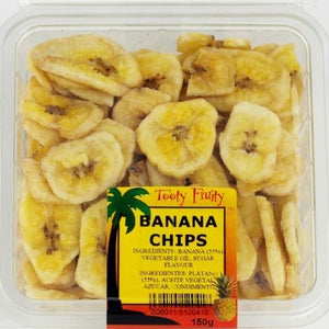 dried banana chips in a packet