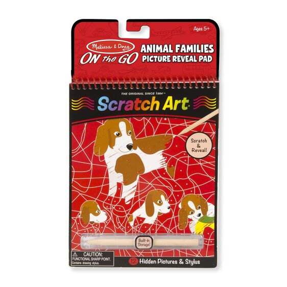 Scratch Art ~  Animal Families Picture Reveal Pad