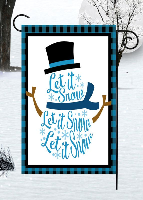 Garden Flag ~ Let it Snow
