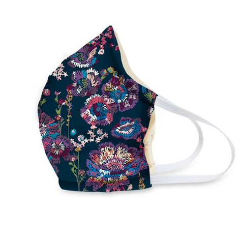 Cotton Face Mask ~ Midnight Wildflowers