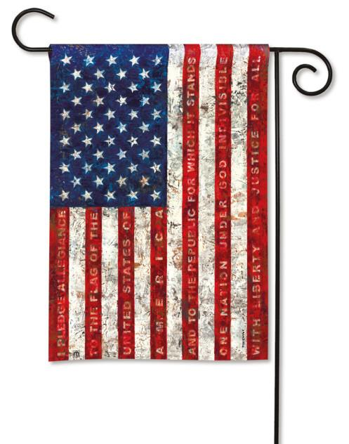Garden Flag ~ Pledge of Allegiance