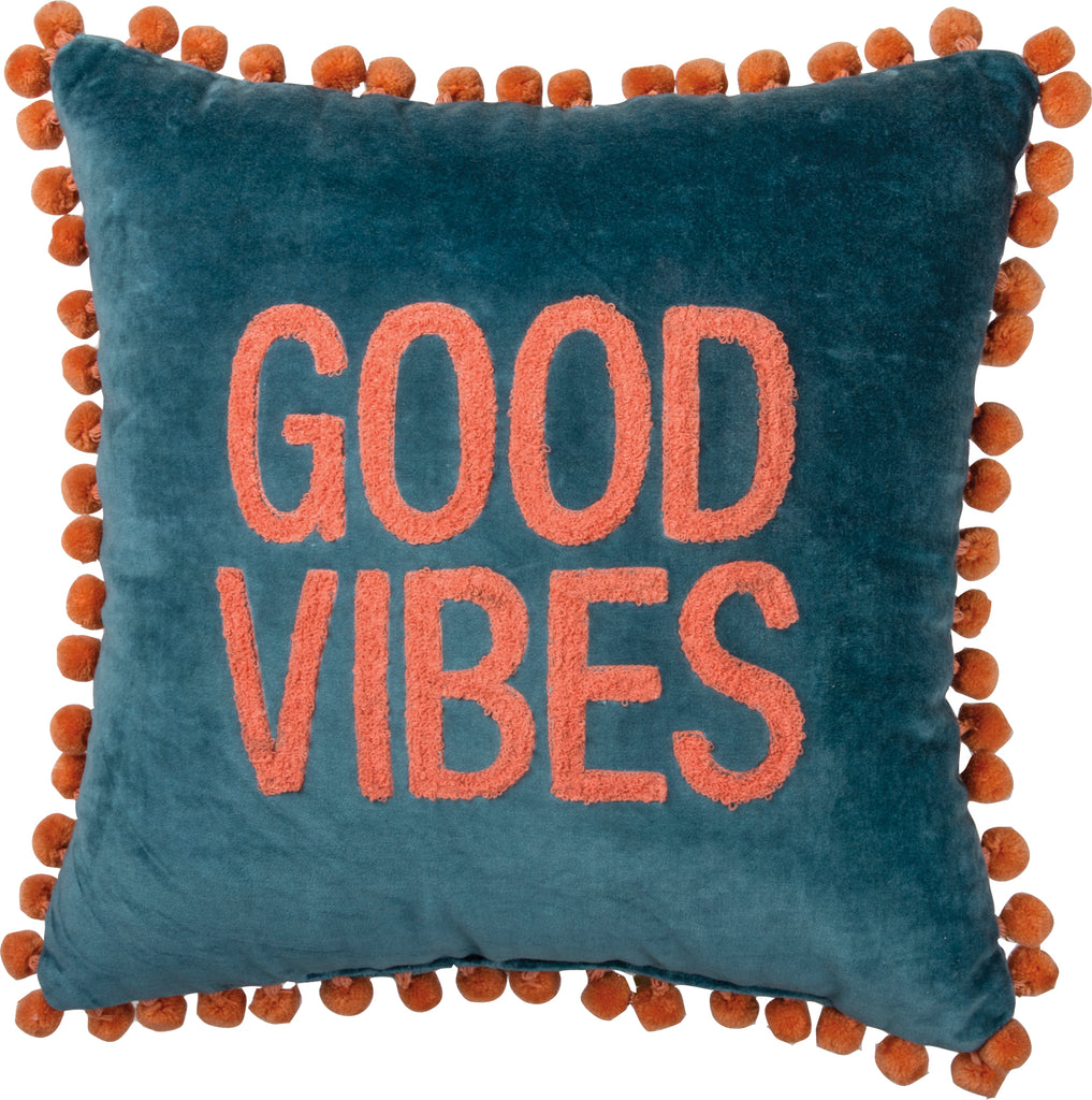 Throw Pillow ~ Good Vibes