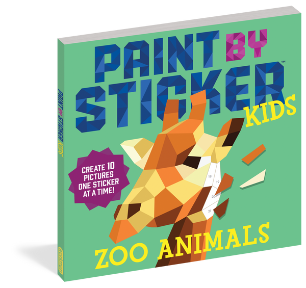 Paint by Sticker for Kids - Zoo Animals
