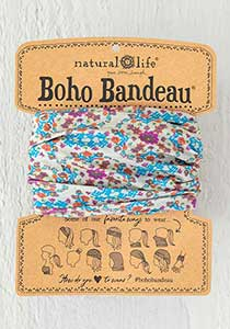 Boho Bandeau ~ Grey Flower Stamp