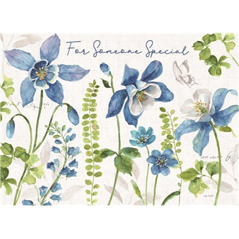 Birthday Card ~ Blue Green Garden
