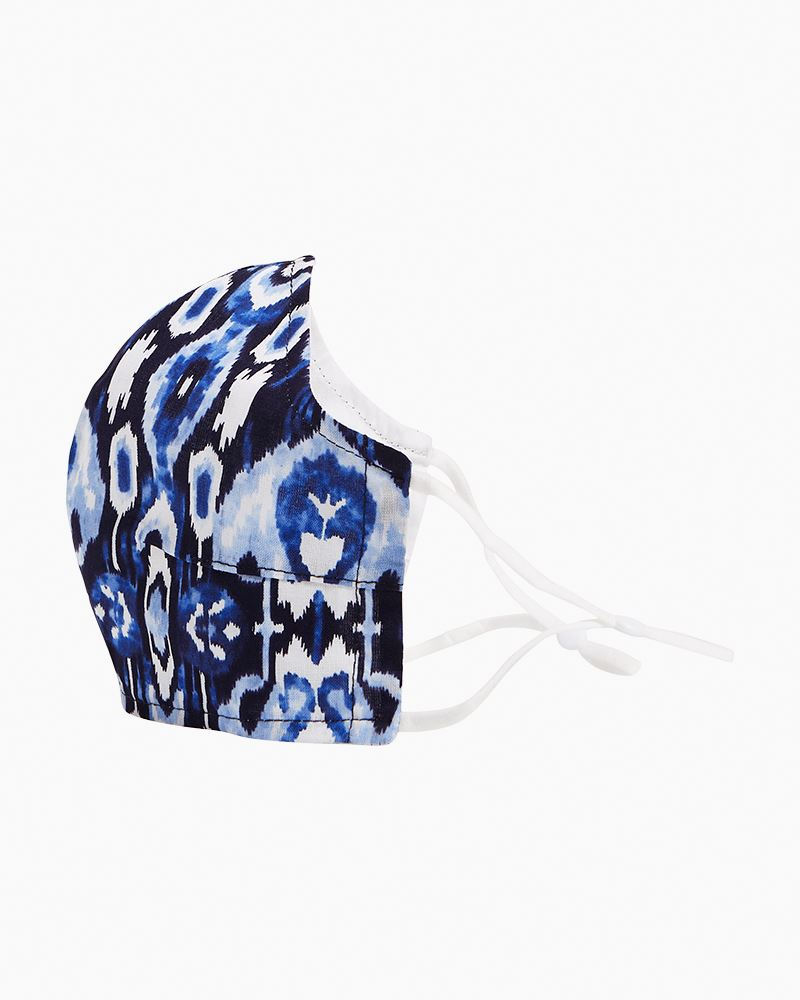 Fitted Face Mask with Adjusters ~ Ikat Island