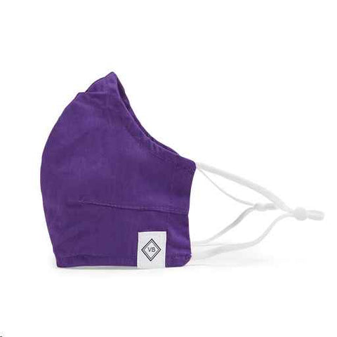 Fitted Face Mask w/ Adjusters ~ Iona Purple