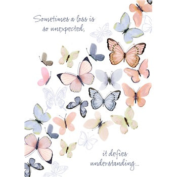 Sympathy Card ~ Butterflies