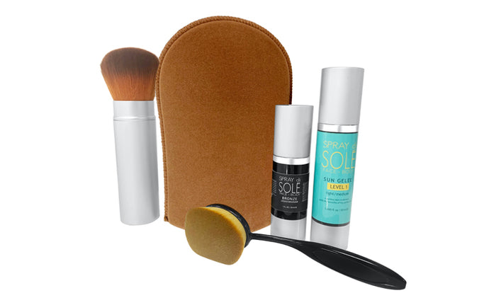 5 product Self-Tanning Kit Elite package (you must press redeemed on your Groupon voucher)