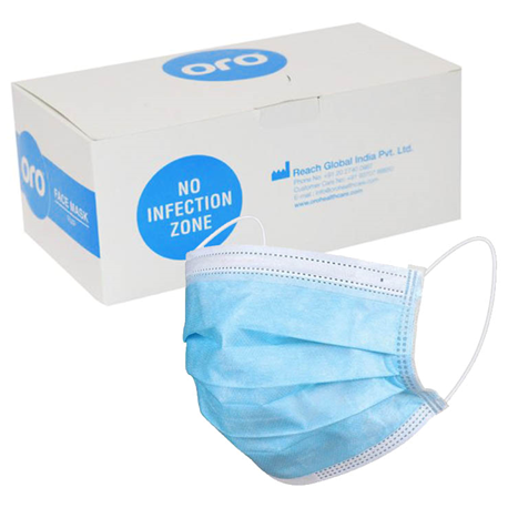Oro Surgical 3ply Face Masks,Equivalent to ASTM Level 3 (50pcs/box) [Lowest Price in Town]