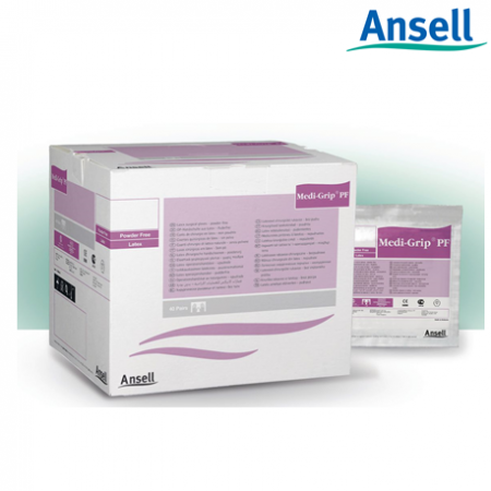 Ansell Medigrip Latex Powder Free Surgical Gloves (Box of 100)