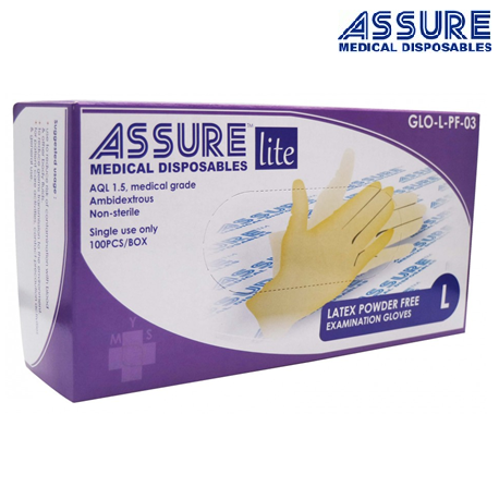 Assure Latex Lite Powder-Free Gloves (100pcs/Box)