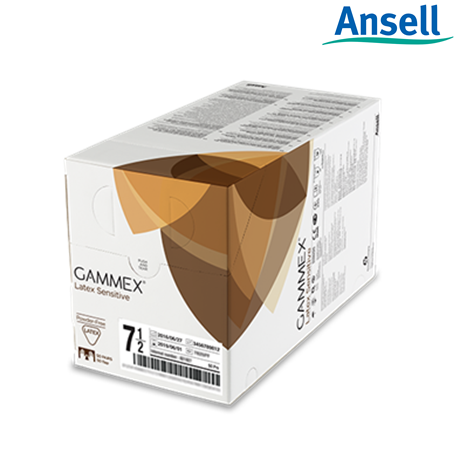 Ansell Gammex Smart Pack Latex SenSitive Powdered Surgical Gloves, 50 Pairs/Box