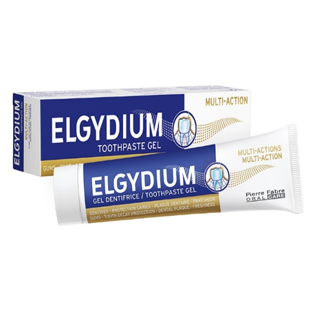 Elgydium Multi-Action Toothpaste, 75ml ( X8 Packs )