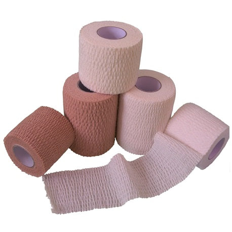 Non-Woven Adhesive Bandage Roll, 8cmx4.5m, 30gm-Skin Color (12/Box)