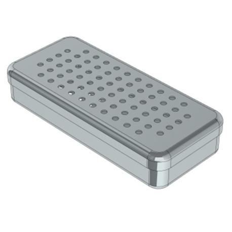 Nichrominox Perforated Stainless Steel Box Size 21x10x3 cm