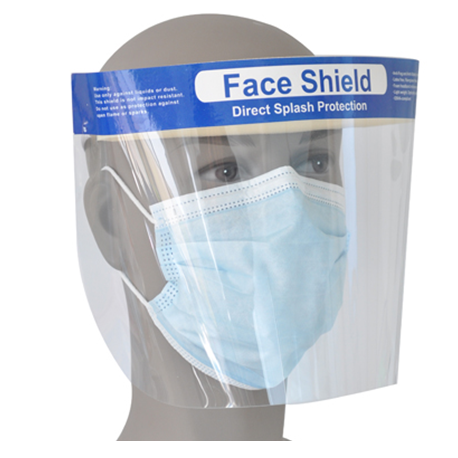 Face Shield with Elastic Headband, 10 unit/bag
