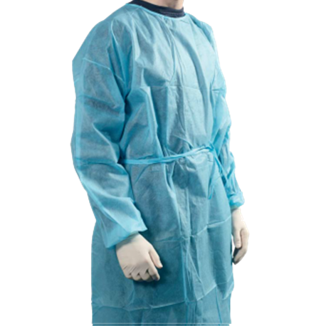 Disposable Isolation Gowns with Knitted cuff and Neck Tie-on, 30gsm 100PCS/Case