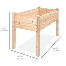 Load image into Gallery viewer, Best Choice Products Raised Garden Bed 48x24x30in Elevated Wood Planter Box Stand for Backyard, Patio - Natural