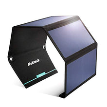 Load image into Gallery viewer, Solar Charger, Nekteck 28W Foldable Portable Solar Charger, Waterproof Camping Gear Sunpowered Charger with 2 USB Port for iPhone 12/11/Xs, iPad, MacBook, Samsung Galaxy, Tablet and Any USB Devices
