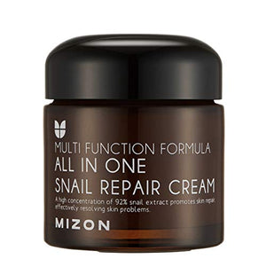 Snail Repair Cream 2.53 oz, Face Moisturizer with Snail Mucin Extract, All in One Snail Repair Cream, Recovery Cream, Korean Skincare with Snail Extract, Wirnkle & Blemish Care by Mizon (2.53oz 75ml)