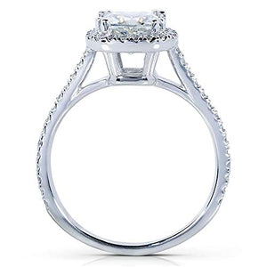 Kobelli Cushion-cut Moissanite Engagement Ring 1 1/3 CTW 14k White Gold, Size 8