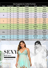 Load image into Gallery viewer, Avidlove Women Lingerie Babydoll Lace Nightdress V Neck Sleepwear Mesh Chemise Apple Green