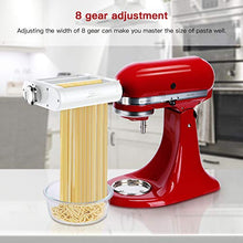 Load image into Gallery viewer, ANTREE Pasta Maker Attachment 3 in 1 Set for KitchenAid Stand Mixers Included Pasta Sheet Roller, Spaghetti Cutter, Fettuccine Cutter Maker Accessories and Cleaning Brush