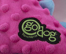Cargar imagen en el visor de la galería, goDog Dragon With Chew Guard Technology Tough Plush Dog Toy, Pink, Large