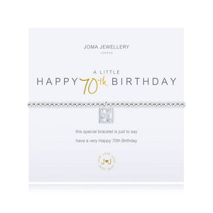 Joma A Little Happy 70th Birthday Bracelet