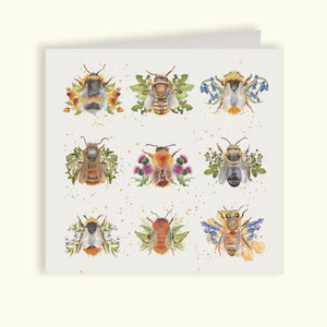 The British Collection - Bees Greetings Card