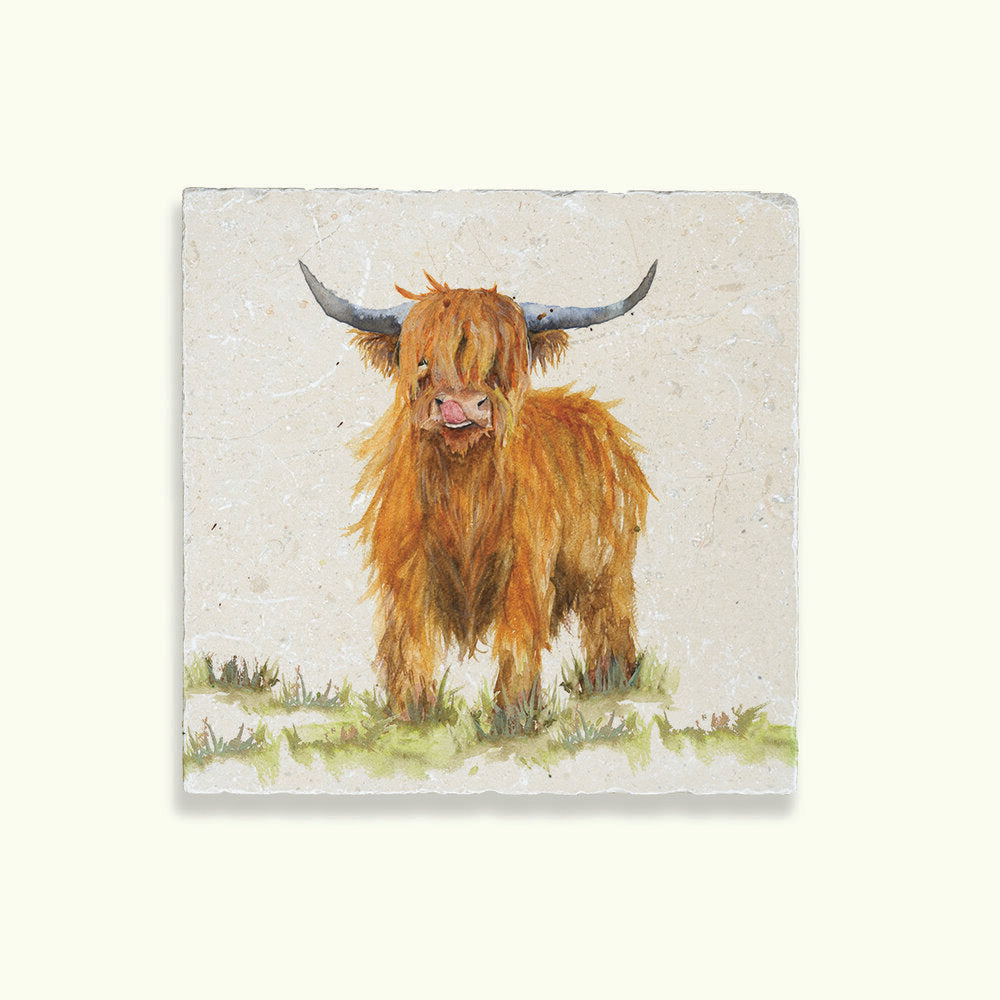 Kate of Kensington Medium Marble Platter - Highland Cow
