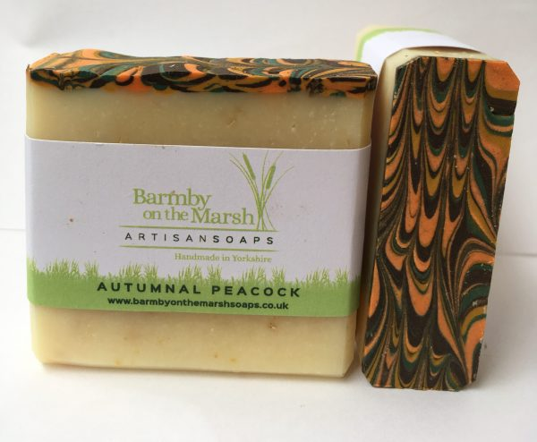 Autumnal Peacock Artisan Soap