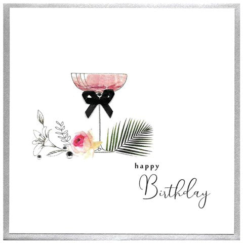 Happy Birthday - Cocktail Glass