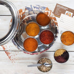 Load image into Gallery viewer, Middle Eastern & African Spice Tin, 9 Spices & Silk Sari Wrap