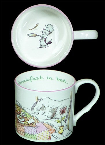 Breakfast In Bed Bone China Mug