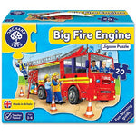 Load image into Gallery viewer, Big Fire Engine Jigsaw Puzzle