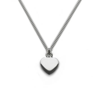 Tales From The Earth Classic Silver Heart Necklace